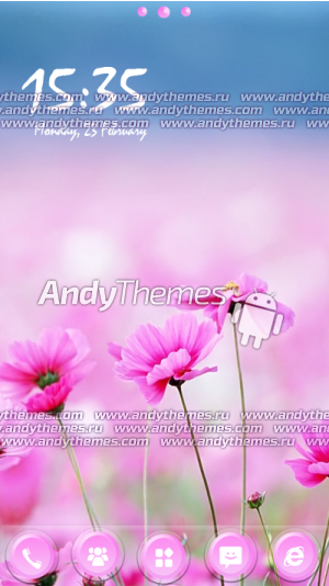 Pink Flowers by Naz